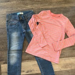 Girls jeans and shirt, Size 6 girls